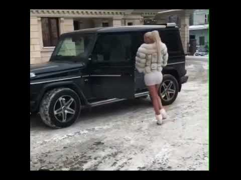 Hot Russian Girl driving a G Class Beast 🔥