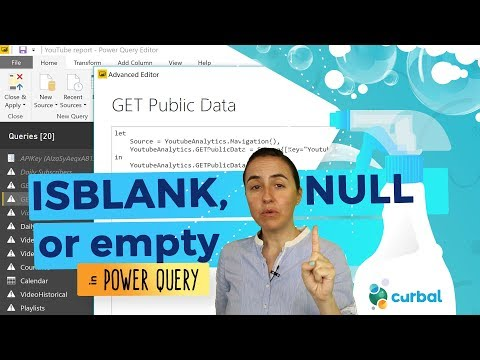 If ISBLANK, NULL or EMPTY in power query