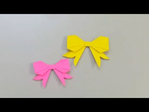 Paper bowtie tutorial | Origami Tutorial to make an easy paper Bow tie