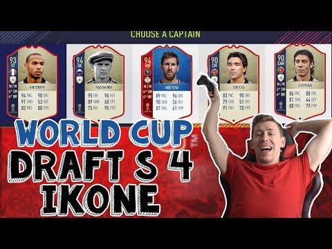 FIFA 18 WORLD CUP - BOLESTAN DRAFT S *4* IKONE I BOOOOLESNA TEKMA!!!