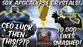 FINAL $500 Apocalypse And Professor X Cavalier Crystal Opening! - CEO - Marvel Contest Of Champions