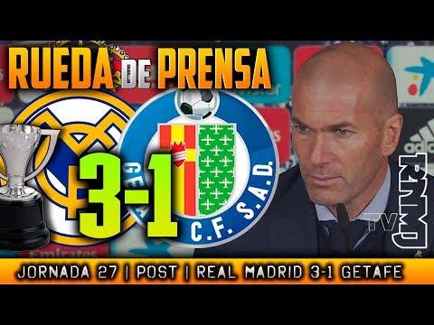 Getafe Rueda de prensa de Zidane (03/03/2018)   POST Real Madrid 3-1