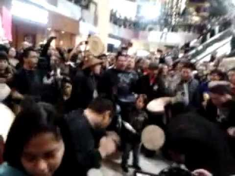 idle no more flash mob vancouver bc. park royal mall