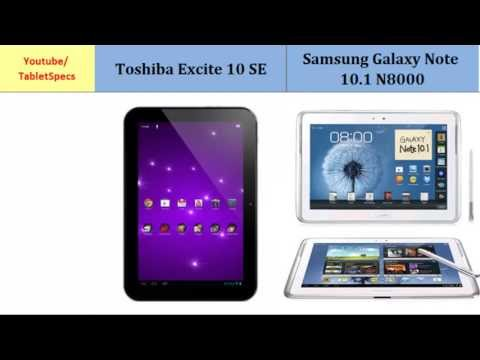 Toshiba AT300SE Versus Samsung Galaxy Tablet 10.1 inches, features spec