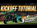ULTIMATE KICKOFF TUTORIAL! The ScrubKilla, Wavedash, & JHZER Fast Kickoffs | Rocket League Tips