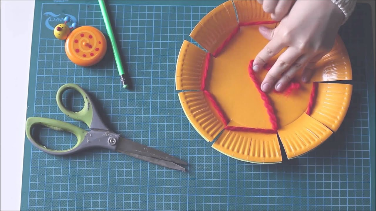 & Weaving a paper plate - YouTube