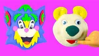 DIY Kinetic Sand Play Doh Creative Video Learn Colors For Babies