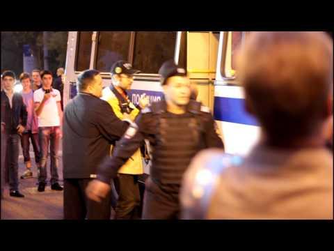 Задержание Алексея Навального в Сокольниках 25.08.13