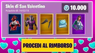 If I lose REFUND ALL of SAN VALENTINO's Skins! Fortnite ITA!