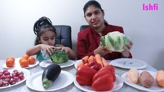 Kids Educational video learning Colors and Name with Fresh Vegetable with Rufi Ishfi & Mummy
