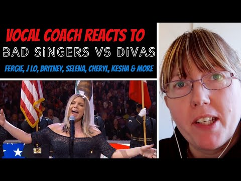 Vocal Coach Reacts to Bad Female Singers Vs Diva&39;s Fergie J Lo Britney Selena Cheryl & more