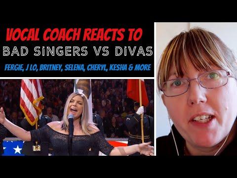 Vocal Coach Reacts to Bad Female Singers Vs Divas Fergie Vs Lady Gaga   Selena Vs Demi Lovato