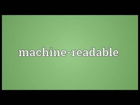 Machine-readable Meaning