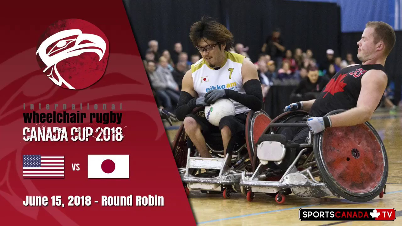 2018 wheelchair rugby canada cup usa vs japan june 15