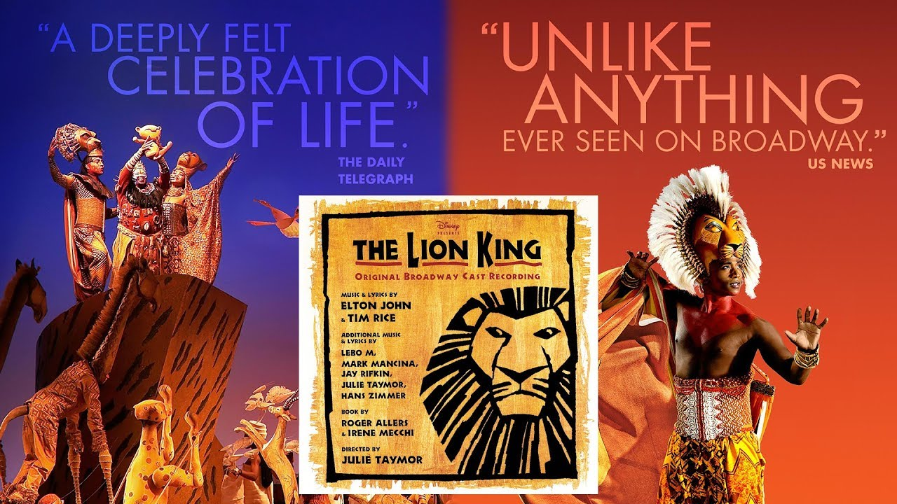 02 Grasslands Chant The Lion King Original Broadway Cast Recording Youtube
