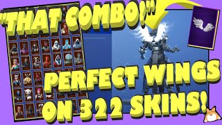 "Back Bling Showcase: Fortnite ""PERFECT WINGS"" sur ALL SKINS [322]! (""SHADOWS RISING"" Pack) Partie 1/3"