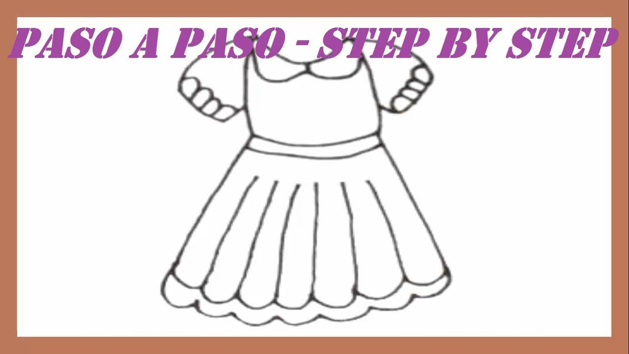 Como dibujar un vestido paso a paso l how to draw dress for Como disenar un jardin paso a paso