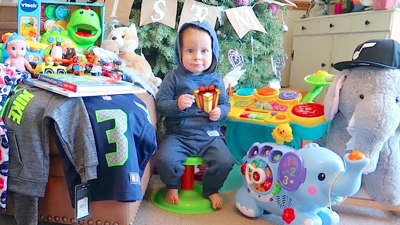 what i got for christmas 2017 roswell 1 year old baby boy kids christmas haul