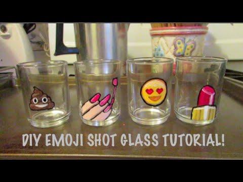 Diy Emoji Shot Glass Tutorial Shot Glasses Custom
