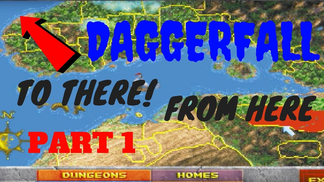 HOW BIG IS THE MAP in Daggerfall? Walk Across the Map Part 1   YouTube