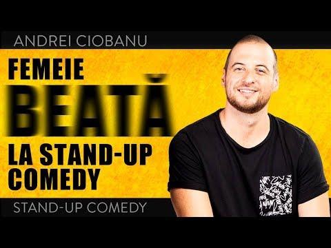 ANDREI CIOBANU - FEMEIE BEATĂ ÎN PUBLIC LA STAND-UP COMEDY (moment de improvizație @Club 99)