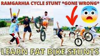 Fat Bike Stunt on RoofTop *GONE WRONG* BIR RAMGARHIA Cycle Stunts