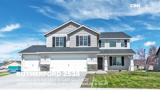 CBH Homes - Rutherford 2538 - 4 bed, 2 5 bath, 3 car garage