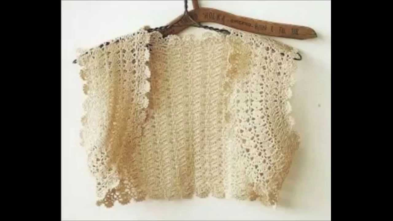how to crochet beautiful bolero free pattern tutorial - YouTube