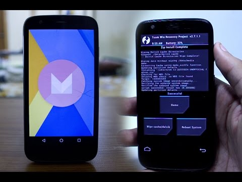 How to Install Android Marshmallow 6.0 on Moto G 1st gen 2013 - Cyanogen Mod 13 on XT1033/XT1032