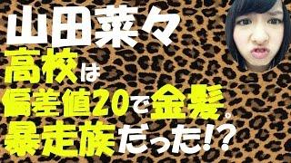 山田菜々、高校は偏差値20で金髪暴走族だった!?【NMB48】【AKB48】