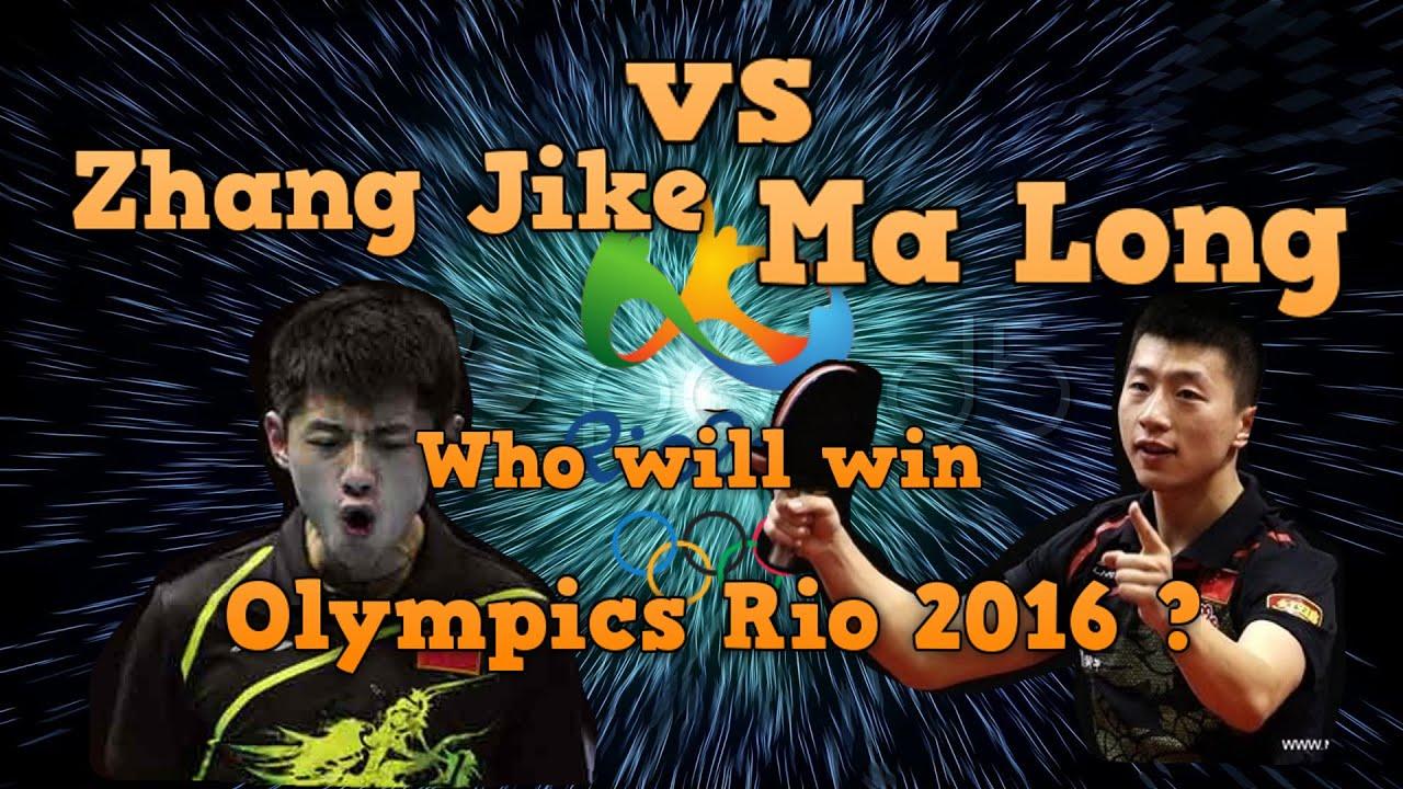 Zhang Jike Vs Ma Long Who Will Win Olympics Rio 2016 Youtube