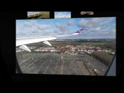 เครื่องบินแลนด์ที่ประเทศอังกฤษ ณ สนามบินฮีทโธรว์ (วิวจากหน้าต่างผู้โดยสาร) Safely Landed in the UK