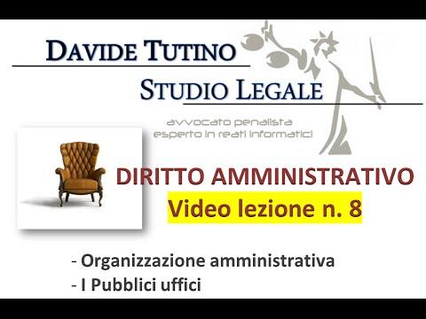 Diritto Amministrativo Video lezione n.8 : Organizzazione amministrativa - i pubblici uffici