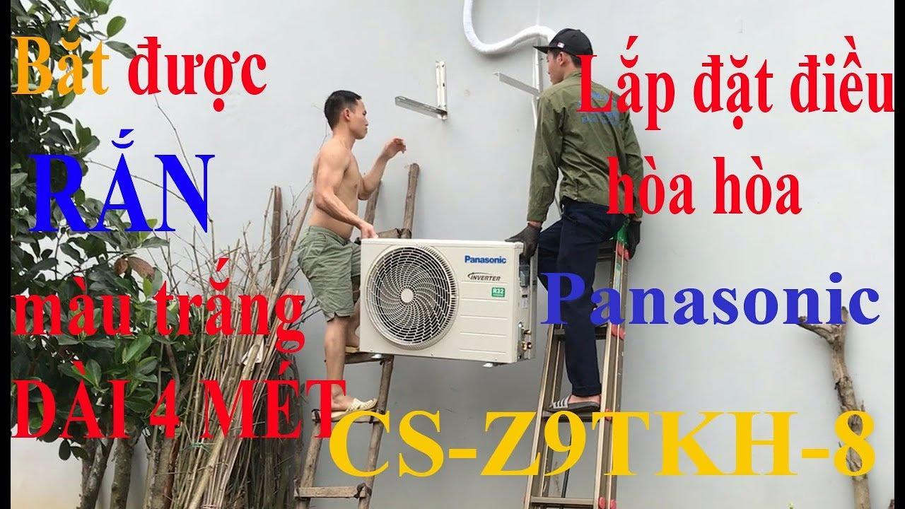 Hướng dẫn cách lắp đặt điều hòa máy lạnh panasonic inverter CS Z9TKH gặp chủ nhà cơ bắp 6 múi