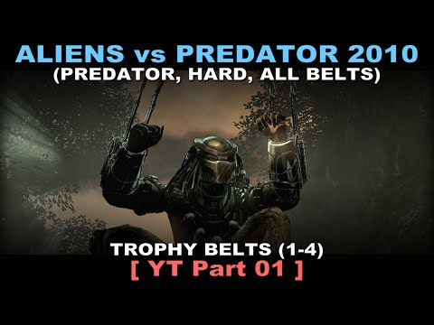 Aliens vs Predator 2010 - Predator walkthrough 01 ( All Belts, Hard, No commentary ✔ ) Jungle #01