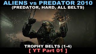 Aliens vs Predator 2010 - Predator walkthrough 01 ( All Belts, Hard, No commentary ✔ ) Jungle #01