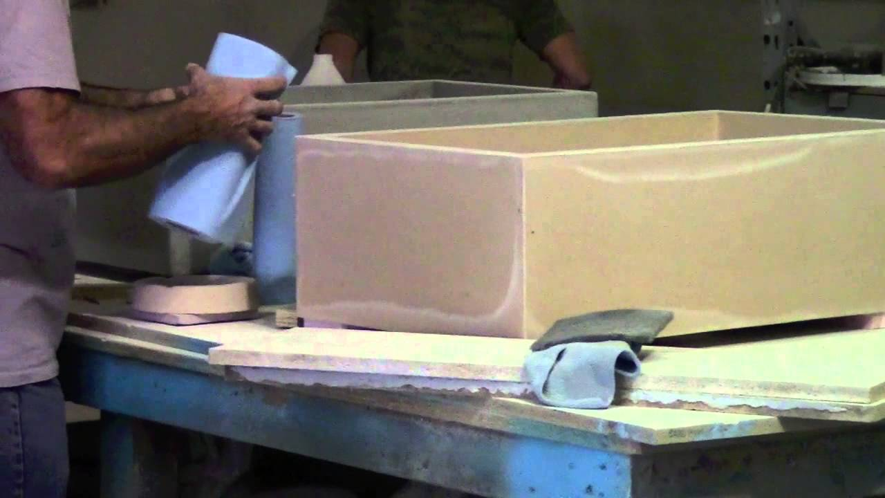 Ordinary How To Make A Concrete Kitchen Sink #10: Making Of Concrete Farm Sinks - YouTube