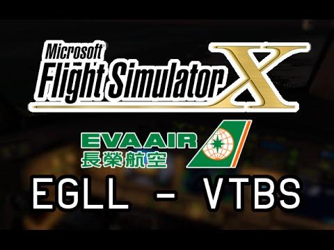 FSX - Full VATSIM Flight from London (EGLL) to Bangkok (VTBS) as EVA68 w/ PMDG 777!