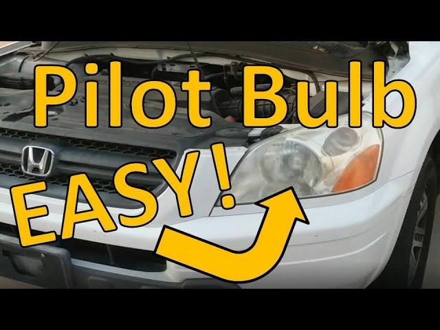 03 05 Honda Pilot Headlight Bulb Replacement Youtube