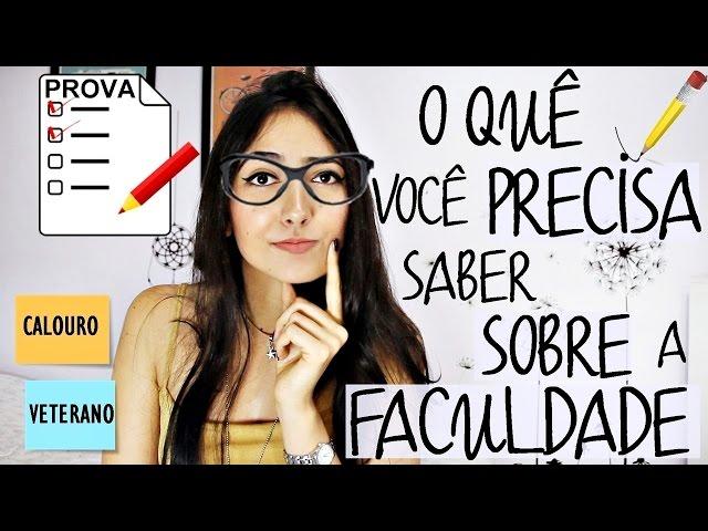 O quê você precisa SABER ANTES de começar a FACULDADE • Dicas e Fatos | Fernanda Rebello
