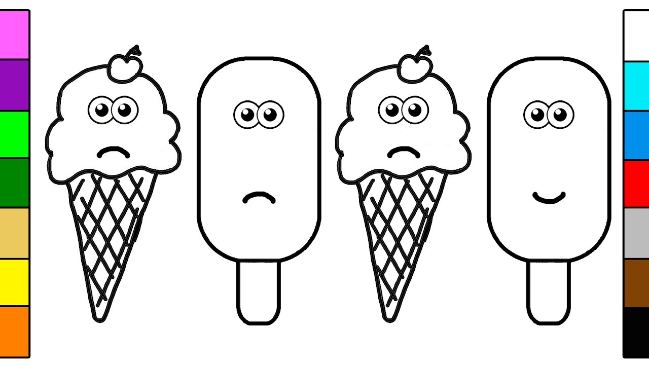 Ice Cream and Popsicle Coloring