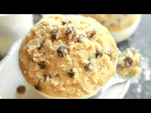 Edible Cookie Dough Recipe    KETO, LOW CARB, NO SUGAR ADDED & Made in 5 MINUTES!