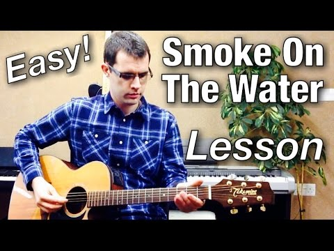 Smoke On The Water Beginner Guitar Lesson How To Play Deep