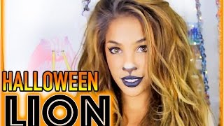GRWM: 10 Minute Lion Halloween Hair + Makeup! |AndreasChoice