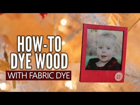 DIY Dyed Wood Photo Frame Ornament | Easy Handmade Gift Idea!