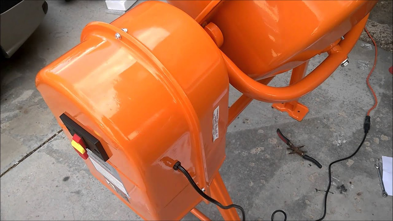 Harbor freight 3 5 cubic ft  cement mixer