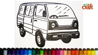 How To Draw School Van Kids Easy Drawing