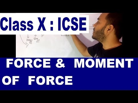 FORCE : FULL CHAPTER : ICSE PHYSICS 10th : Moment Of Force and CIRCULAR MOTION