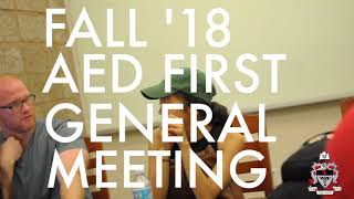 AED 2018 First General Meeting Compilation