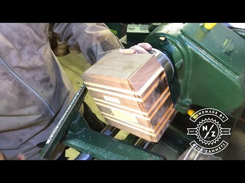 WOODTURNING A LIDDED BOX WITH GLASS CRYSTAL KNOB!